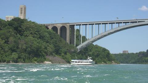 Boat Floating up River Live Action