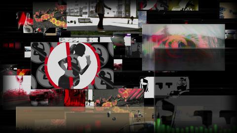 Vj loop screens in space Animation