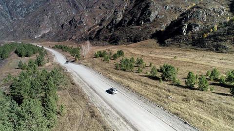 car drive on the road ビデオ