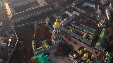 Aerial view of Kiev Pechersk Lavra in autumn, Kiev Archivo