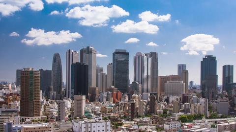 Time Lapse of the incredible skyline of Shinjuku in Tokyo Japan Archivo