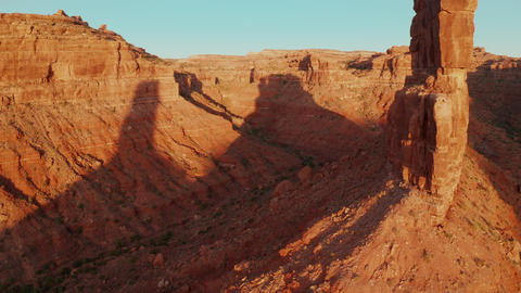 Aerial shot of the amazing rock formations on southern Utah Footage