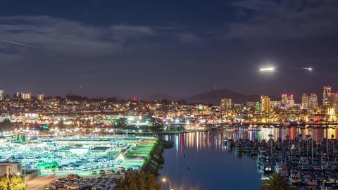 San Diego Night Time Lapse Archivo