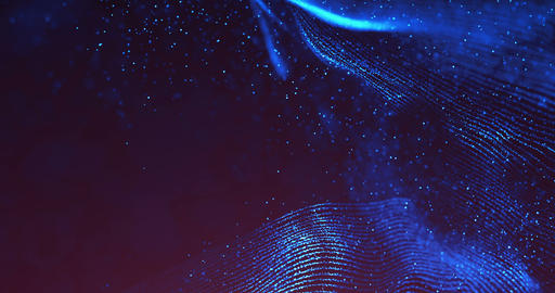 abstract 3d rendering technology plexus blue dynamic digital surface on black background, Footage