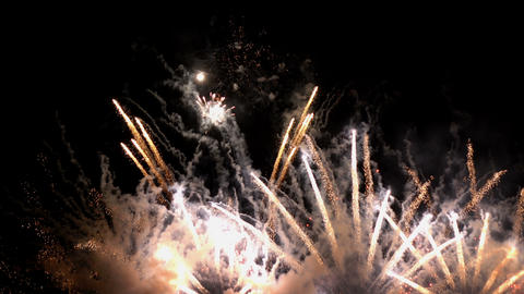 Fireworks light up christmas and new year celebration Live Action