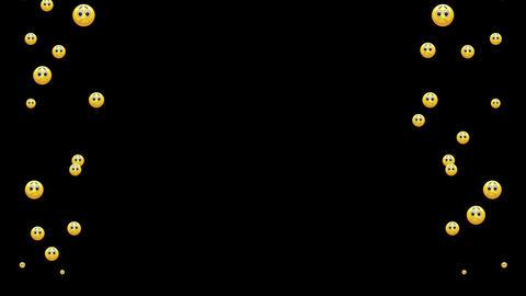 Flying emoji to overlay on video CG動画