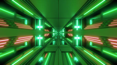 futuristic scifi space hangar tunnel corridor 3d illustration with holy Animation