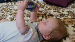 Baby Boy With Smartphone Footage