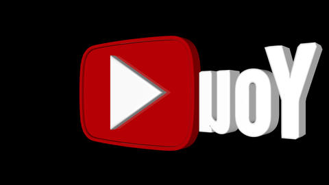 youtube logo spin looped background Animation