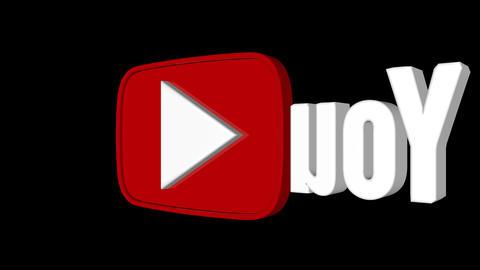 youtube logo spin looped background Animation