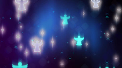 Christmas Angels Background Animation