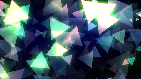 Glowing Triangles Vj Loop Animation