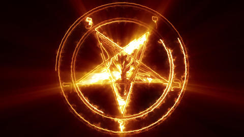 Baphomet Pentagram Symbol Animation