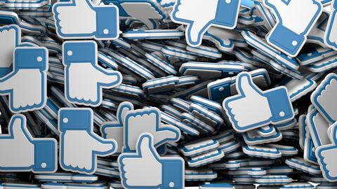 Falling Facebook Likes Transition Animation