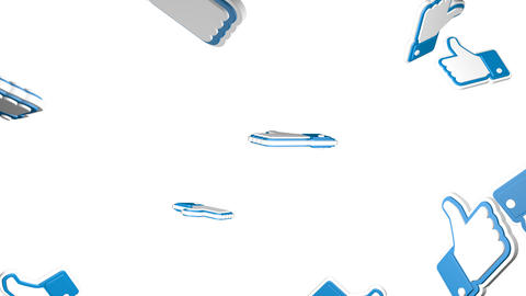 This rain of likes background Animation