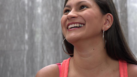 Happy Woman, Smiling Female Footage