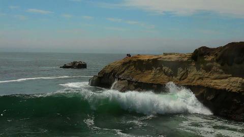 Footage - Ocean Waves of California Coast Footage