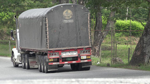 Freight Truck on Rural Road Live Action