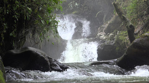 Small Waterfall in River or Stream Live Action