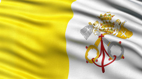 Vatican City flag seamless loop Animation