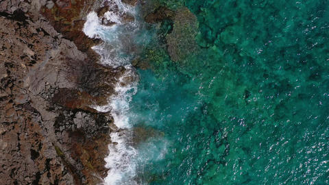 Top view of a deserted coast. Rocky shore of the island of Tenerife. Aerial Archivo