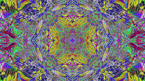 Casual seamless kaleidoscope, futuristic shimmering pattern. Iridescent colors Live Action