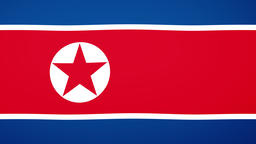 North Korea Flag Composition Videos animados