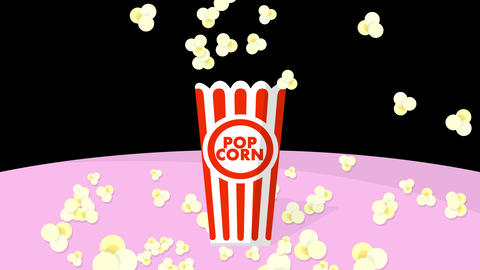 Pop-corn explosion animation Animation