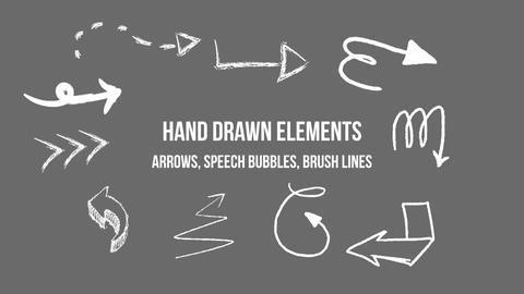 Hand drawn elements モーショングラフィックステンプレート