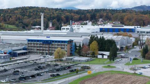 Industrial metalworking plant, aluminum factory Impol in Slovenska Bistrica Footage