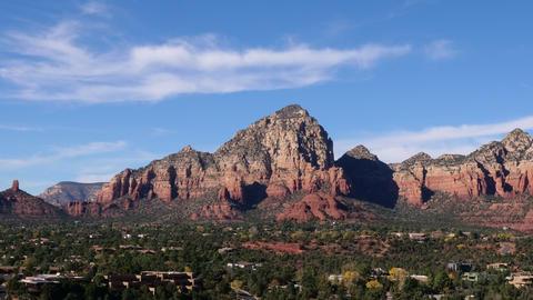 Sedona Arizona Red Rocks and Clouds Timelapse Archivo