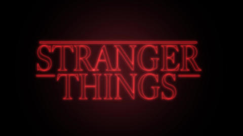 stranger things After Effects Template