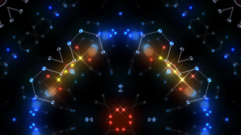 Kaleidoscope illumination neon Bv2 red blue2 4k CG動画