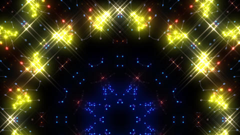 Kaleidoscope illumination neon Ch2 red blue2 4k Animation