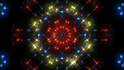 Kaleidoscope illumination neon Dh2 red blue1 4k Animation