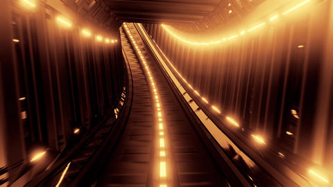 glowing fantasy tunnel corridor 3d illustration design live wallpaper motion Animation