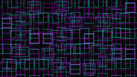 VJ Loop Abstract Digital Grid Geometric Pattern Animation