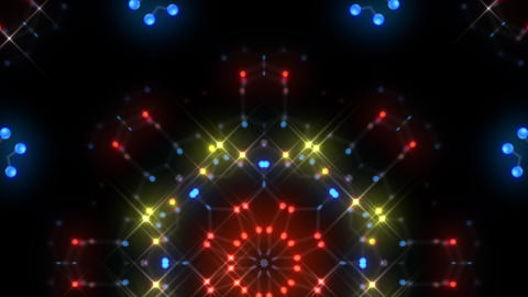 Kaleidoscope illumination neon Dh2 red blue2 4k Videos animados