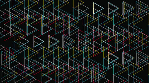 Abstract Backdrop With Glow Triangles Shapes Geometric Pattern Animation