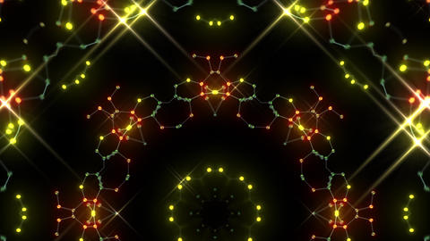 Kaleidoscope illumination neon Ah2 red yellow2 4k Animation