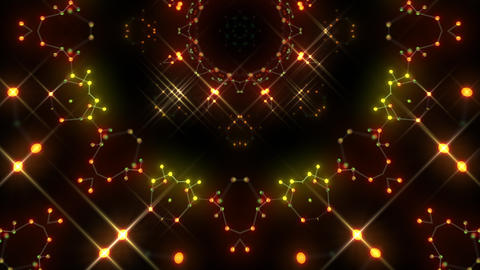 Kaleidoscope illumination neon Av2 red yellow3 4k CG動画