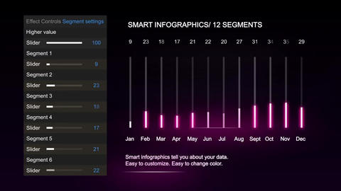 Glowing infographics Plantilla de After Effects