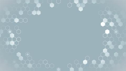 Hexagon geometric loop animation. Futuristic background. Honeycomb. Hexagonal digital element. Videos animados