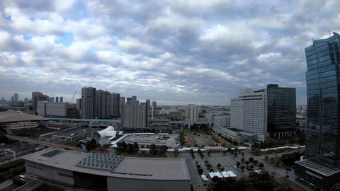 A timelapse of cityscape at the urban street in Tokyo daytime high angle wide Footage