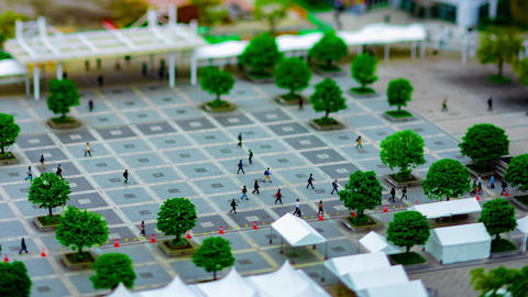 A timelapse of cityscape at the urban street in Tokyo daytime high angle GIF