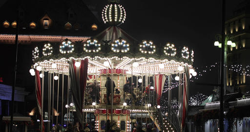 French carousel on Revolution Square Footage