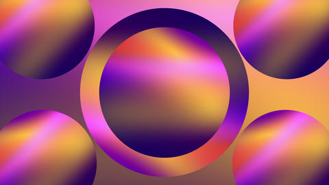 3d render of shining rings and circles with multicolored gradient effect GIF