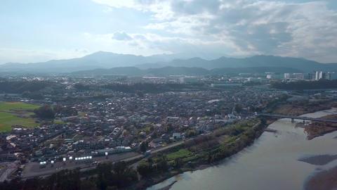 日本,神奈川,相模原,相模川,河川,台風,下溝,丹沢山,ドローン,空撮,相模線,自然,空 ビデオ