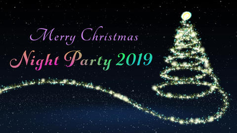 クリスマスパーティにオススメのオープニング動画 Opening video for a After Effectsテンプレート