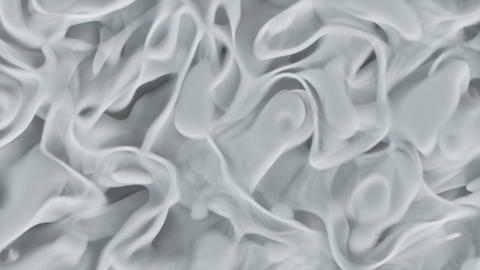 Abstract bright white smoke close up loop Animation